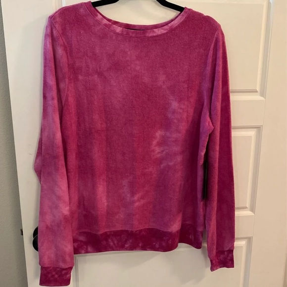 Pink Tye Dye Wildfox Sweater - Size Medium
